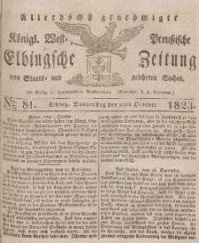 Elbingsche Zeitung, No. 81 Donnerstag, 9 Oktober 1823