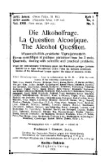 Die Alkoholfrage, 1921, Jg. XVII, H. 3, No 3.