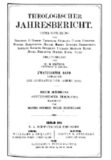 Theologischer Jahresbericht, 1900, Abteilung 3.