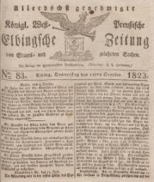 Elbingsche Zeitung, No. 83 Donnerstag, 16 Oktober 1823