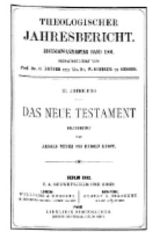Theologischer Jahresbericht, 1901, Abteilung 3.