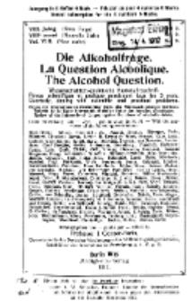 Die Alkoholfrage, 1912, Jg. VIII, H. 2