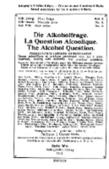 Die Alkoholfrage, 1912, Jg. VIII, H. 3