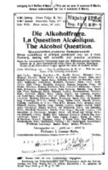Die Alkoholfrage, 1912, Jg. VIII, H. 4