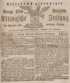 Elbingsche Zeitung, No. 88 Montag, 3 November 1823