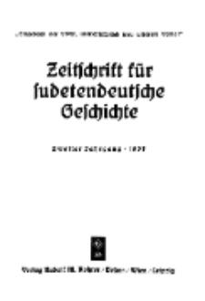 Zeitschrift für sudetendeutsche Geschichte, Jg. 2. 1938, Bd. 2.