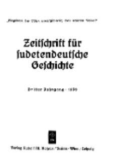Zeitschrift für sudetendeutsche Geschichte, Jg. 3. 1939, Bd. 3.