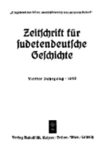 Zeitschrift für sudetendeutsche Geschichte, Jg. 4. 1940, Bd. 4.