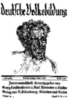 Deutsche Volksbildung, Jg. 1. April 1926, H. [4].