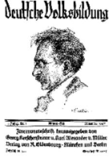 Deutsche Volksbildung, Jg. 3. November 1927, H. 1.
