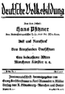 Deutsche Volksbildung, Jg. 4. April 1929, H. 4.