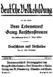 Deutsche Volksbildung, Jg. 4. Juli 1929, H. 6.
