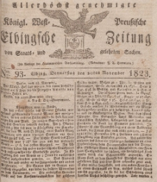 Elbingsche Zeitung, No. 93 Donnerstag, 20 November 1823