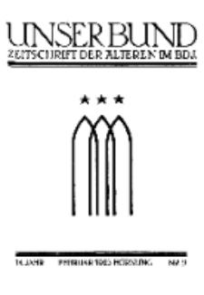 Unser Bund: Älterenblatt des Bundes deutscher Jugendvereine, Jg. 14. Februar 1925, Nr 2.