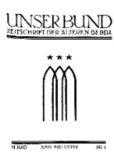 Unser Bund: Älterenblatt des Bundes deutscher Jugendvereine, Jg. 14. April 1925, Nr 4.