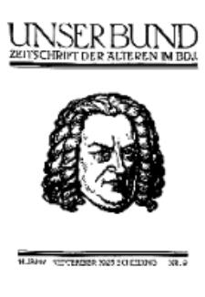Unser Bund: Älterenblatt des Bundes deutscher Jugendvereine, Jg. 14. September 1925, Nr 9.