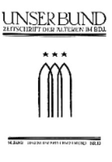 Unser Bund: Älterenblatt des Bundes deutscher Jugendvereine, Jg. 14. November 1925, Nr 12.