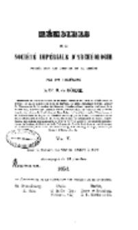 Mémoires de la Société Impériale D' Archéologie , 1851, V.