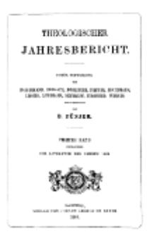 Theologischer Jahresbericht, 1884