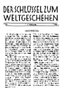Der Schlüssel zum Weltgeschehen : Monatsschrift für reine und angewandte Welteiskunde, Jg.3. 1927, H. 1.