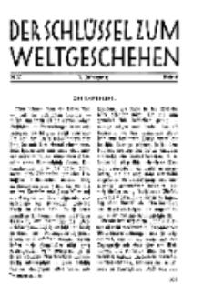 Der Schlüssel zum Weltgeschehen : Monatsschrift für reine und angewandte Welteiskunde, Jg.3. 1927, H. 6.