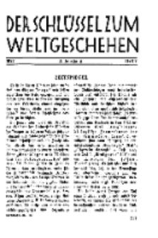 Der Schlüssel zum Weltgeschehen : Monatsschrift für reine und angewandte Welteiskunde, Jg.3. 1927, H. 7.