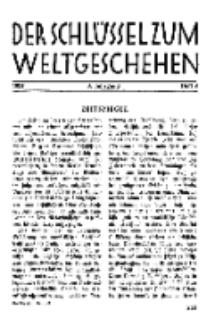 Der Schlüssel zum Weltgeschehen : Monatsschrift für reine und angewandte Welteiskunde, Jg.3. 1927, H. 8.