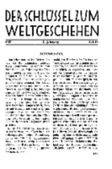 Der Schlüssel zum Weltgeschehen : Monatsschrift für reine und angewandte Welteiskunde, Jg.3. 1927, H. 10.