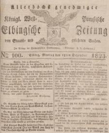 Elbingsche Zeitung, No. 100 Montag, 15 Dezember 1823