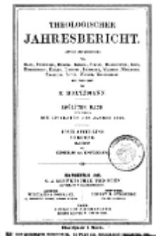 Theologischer Jahresbericht, 1892