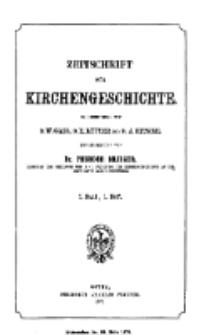 Zeitschrift für Kirchengeschichte, 1877, Bd. 1, H. 1.