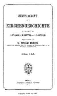 Zeitschrift für Kirchengeschichte, 1877, Bd. 1, H. 2.