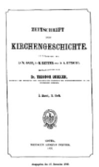 Zeitschrift für Kirchengeschichte, 1877, Bd. 1, H. 3.