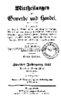 Mitteilungen für Gewerbe und Handel, Januar, 1842