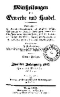 Mitteilungen für Gewerbe und Handel, Juli, 1842