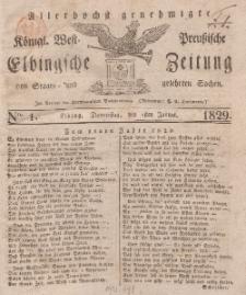 Elbingsche Zeitung, No. 1 Donnerstag, 1 Januar 1829
