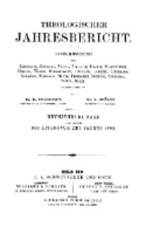 Theologischer Jahresbericht, 1899, Abteilung 1.