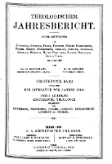 Theologischer Jahresbericht, 1899, Abteilung 2.