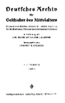 Deutsches Archiv für Geschichte des Mittelalter, Jg. 5.1940, H. 1.