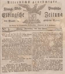 Elbingsche Zeitung, No. 3 Donnerstag, 8 Januar 1829