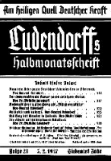 Am Heiligen Quell Deutscher Kraft, 5. Januar 1937, Folge 21.