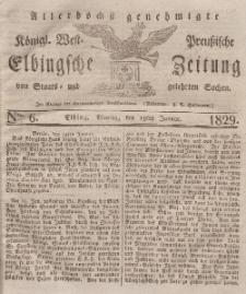 Elbingsche Zeitung, No. 6 Montag, 19 Januar 1829