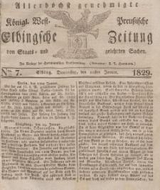 Elbingsche Zeitung, No. 7 Donnerstag, 22 Januar 1829
