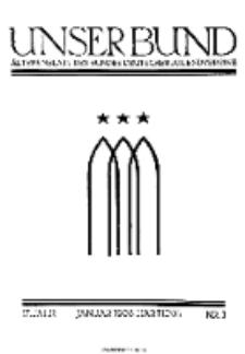 Unser Bund: Älterenblatt des Bundes deutscher Jugendvereine, Jg. 17. Januar 1928, Nr 1.