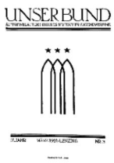 Unser Bund: Älterenblatt des Bundes deutscher Jugendvereine, Jg. 17. März 1928, Nr 3.