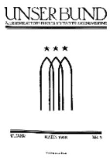 Unser Bund: Älterenblatt des Bundes deutscher Jugendvereine, Jg. 17. Mai 1928, Nr 5.