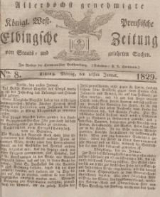 Elbingsche Zeitung, No. 8 Montag, 26 Januar 1829