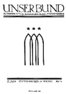 Unser Bund: Älterenblatt des Bundes deutscher Jugendvereine, Jg. 17. September 1928, Nr 9.