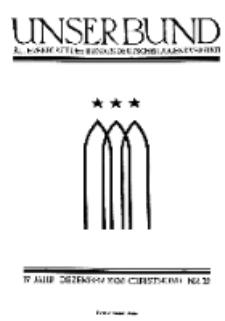 Unser Bund: Älterenblatt des Bundes deutscher Jugendvereine, Jg. 17. Dezember 1928, Nr 12.