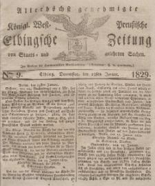 Elbingsche Zeitung, No. 9 Donnerstag, 29 Januar 1829